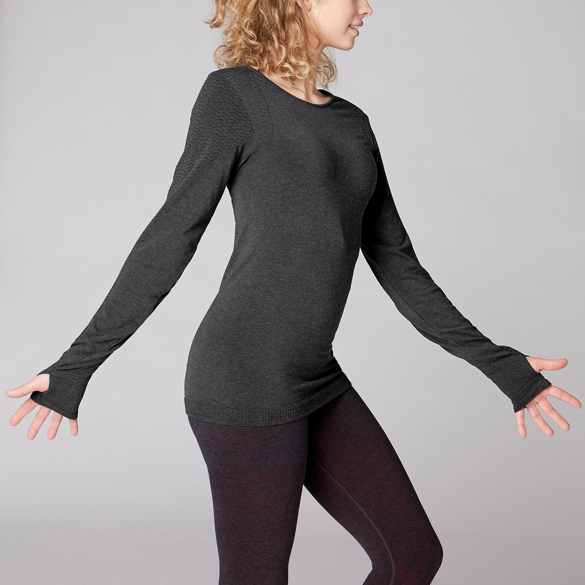 Bild 3 von Langarmshirt Yoga Damen dunkelgrau
