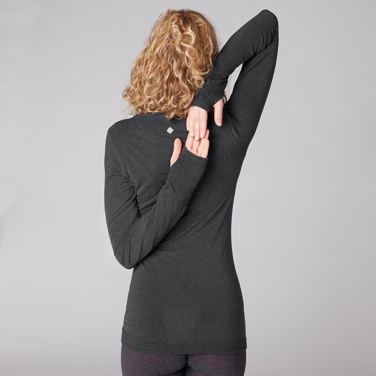 Bild 4 von Langarmshirt Yoga Damen dunkelgrau