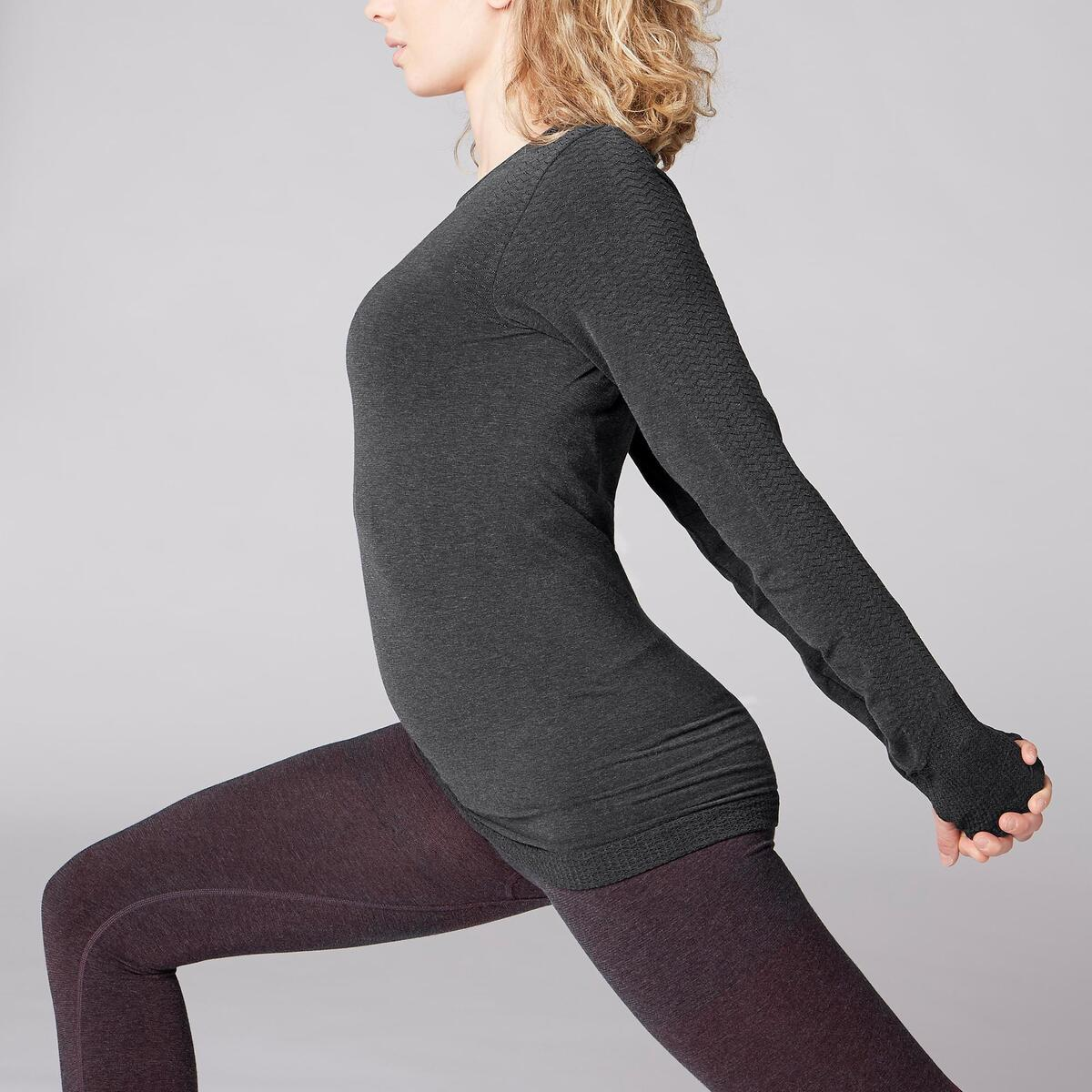 Bild 5 von Langarmshirt Yoga Damen dunkelgrau