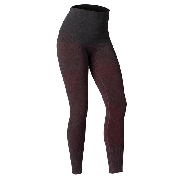 Leggings Yoga nahtlos bordeaux meliert