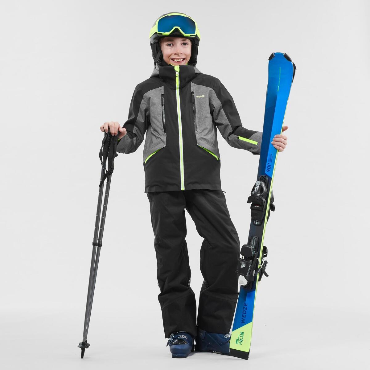 Bild 2 von Skijacke Piste 900 Kinder grau/schwarz