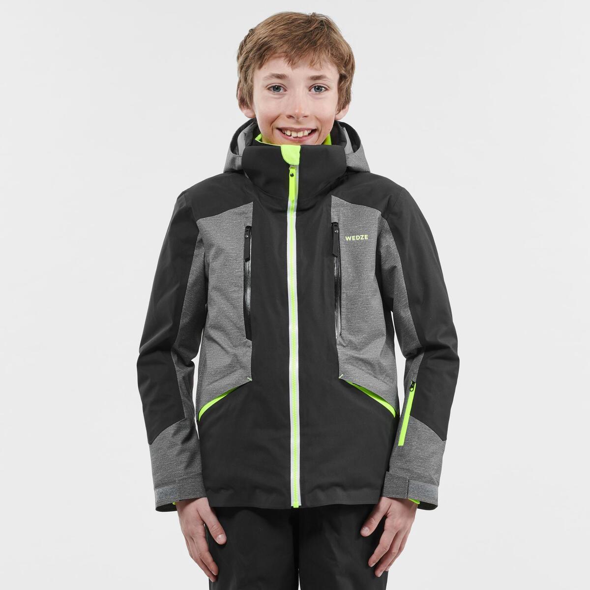 Bild 3 von Skijacke Piste 900 Kinder grau/schwarz