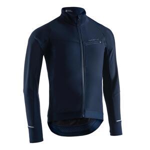 Fahrrad Winterjacke RR 500 für kalte Temperaturen blau