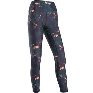 Tanz-Leggings Fitness Dance Damen grün mit rosa Grafikprint
