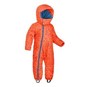 Schneeanzug warm Baby orange/blau bedruckt