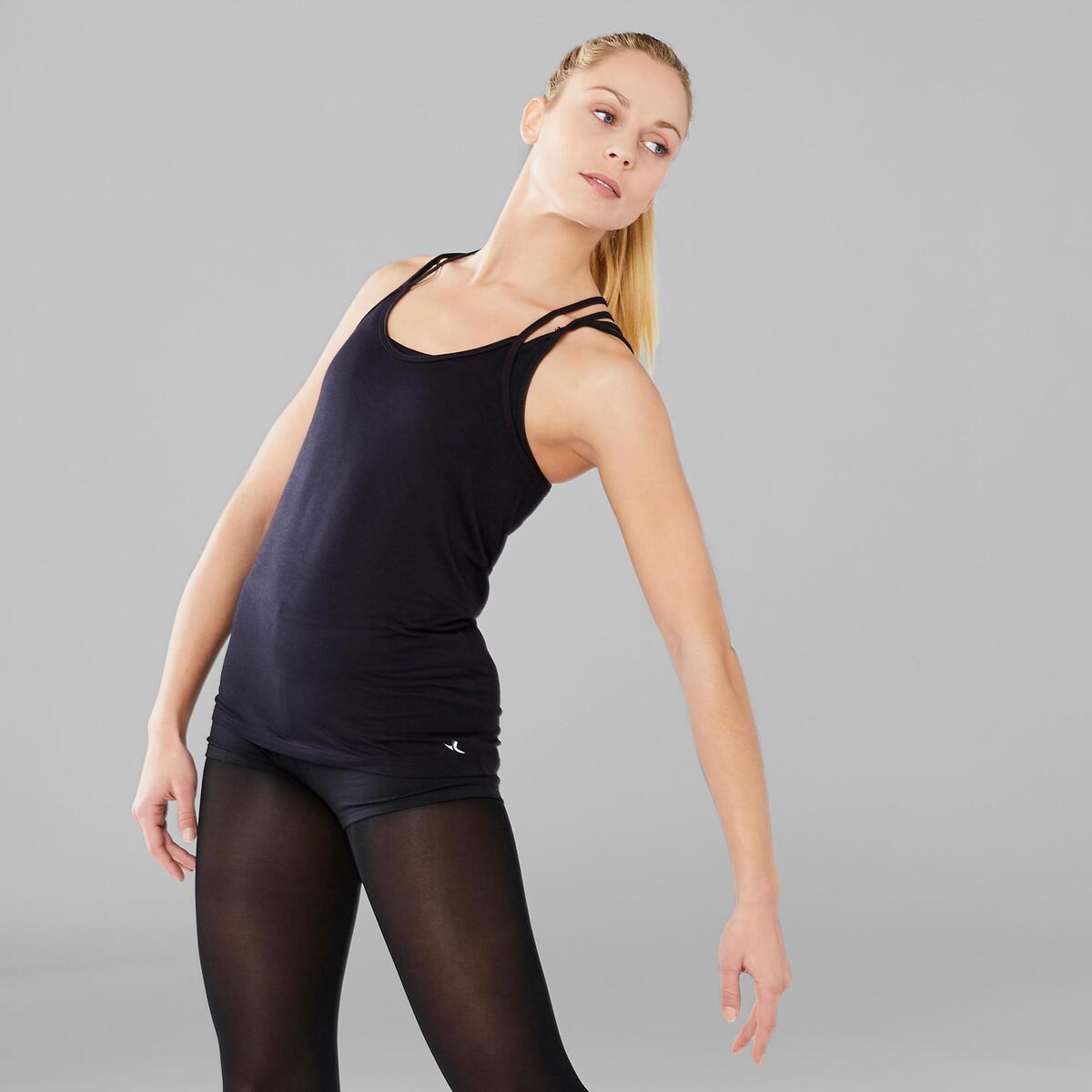 Bild 3 von Top Modern Dance fließend Damen schwarz