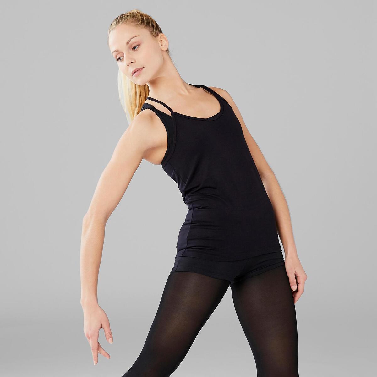 Bild 5 von Top Modern Dance fließend Damen schwarz