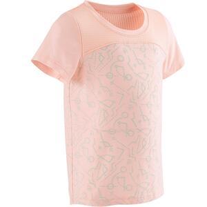 T-Shirt 500 Dry Babyturnen rosa