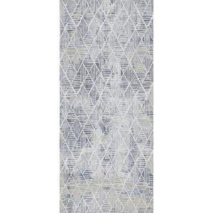 WEBTEPPICH 80/250 cm Blau, Weiß