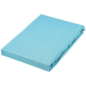 SPANNBETTTUCH Jersey Türkis bügelfrei, für Wasserbetten geeignet