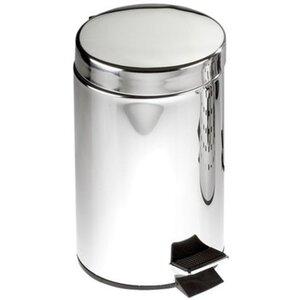 Wenko Edelstahl Treteimer Silber glänzend 3 l