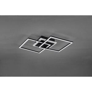 Trio LED-Deckenleuchte Venida matt schwarz EEK: A+