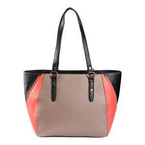Damen-Handtasche mit Kontrast-Einsätzen