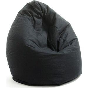 VALERIAN Sitzsack Baumwolle, schwarz uni