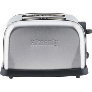 H.KOENIG TOS7 Edelstahl Toaster, 850 W