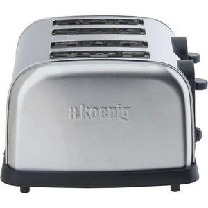 H.KOENIG TOS14 Edelstahl Toaster, 4 Scheiben, 1700 W