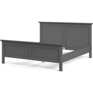 Doppelbett Venedig 180x200 cm matt grau Ehebett Schlafzimmer Bett Bettgestell