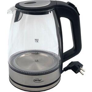 Elta Glas LED Wasserkocher 1,8 L Edelstahl Teekocher Wasser Tee kabellos 2200W