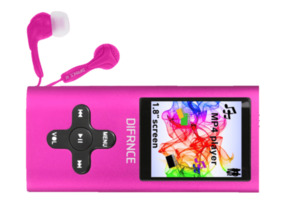DIFRNCE MP1818 Mp4-Player 4 GB in Pink