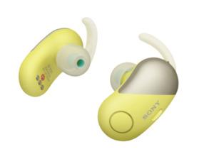 SONY WF-SP700N True-Wireless-Kopfhörer in Gelb