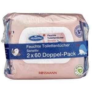 alouette feuchte Toilettentücher Sensitiv Kids Doppel-Pack