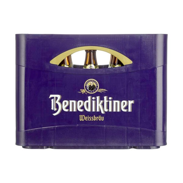 Benediktiner Hell oder Weißbier 20 x 0,5 Liter, jeder Kasten