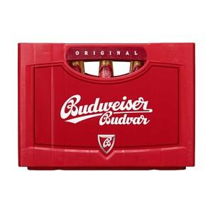 Budweiser 20 x 0,5 Liter/24 x 0,33 Liter, jeder Kasten