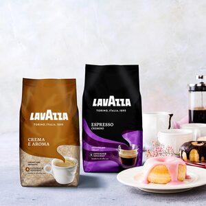 Lavazza Crema E Aroma oder  Cremoso ganze Bohne, jede 1000-g-Packung