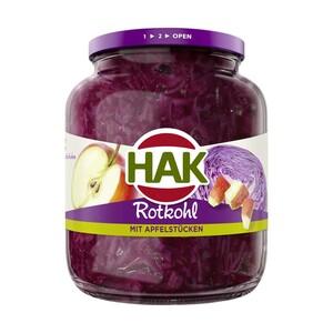 HAK Rotkohl mit Apfelstücken oder Rotkohl fix & fertig jedes 720-ml-Glas/700 g Abtropfgewicht
