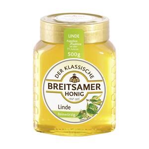 Breitsamer Honig Linde feinwürzig oder Rapsblüte herzaft jedes 500-g-Glas