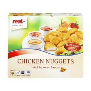 Hähnchen Kebab oder Chicken Nuggets mit 3 x 30 g Dip, gefroren, jede 350/500-g-Packung und weitere Sorten