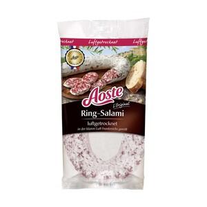 Aoste Original Französische Ring-Salami oder Mini-Kordel-Salami luftgetrocknet, jede 250-g-SB-Packung