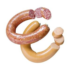 GS Schmitz Schinkenstreich-Mettwurst fein,  im Ring, geräuchert, je 100 g