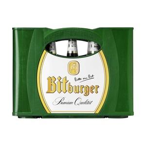 Bitburger Pils, Alkoholfrei oder Premium Kellerbier 20 x 0,5/24 x 0,33 Liter, jeder Kasten