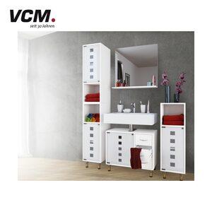 Waschbeckenunterschrank 3 leichtgängige Schubladen, Mattglastür, Maße ca.: H 57 x B 67 x T 30 cm