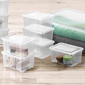 Toptex Klarsichtboxen, 1,7 Liter - 6er-Set