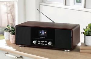 REFLEXION Internet/DAB+/DAB/UKW-Radio mit Bluetooth, Holzoptik