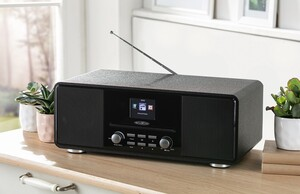 REFLEXION Internet/DAB+/DAB/UKW-Radio mit Bluetooth, Schwarz