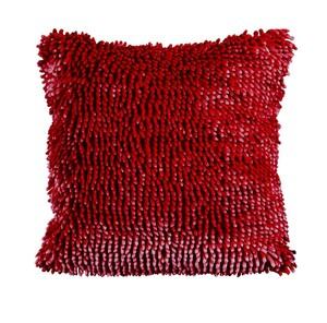 "Bella Casa Dekokissen ""Chenille"", ca. 45 x 45 cm - Rot"