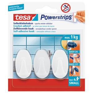 tesa Powerstrips® Haken Small Oval 3 Stück