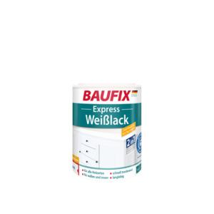 BAUFIX Express Weißlack 2 in 1, seidenglänzend, 3er Set