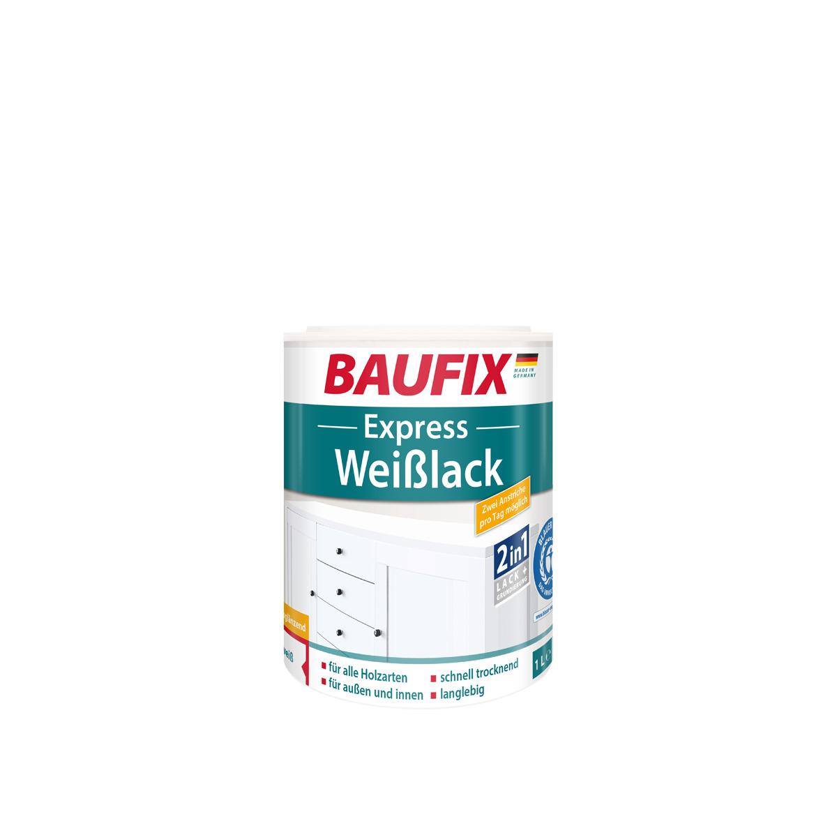 Bild 1 von BAUFIX Express Weißlack 2 in 1, seidenglänzend, 3er Set
