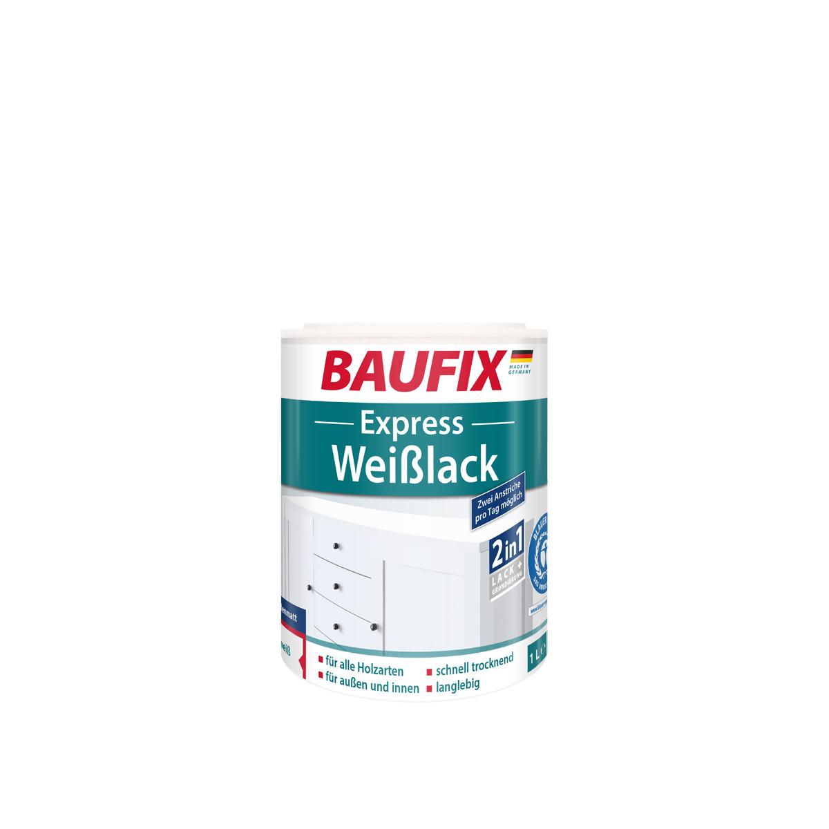 Bild 1 von BAUFIX Express Weißlack 2 in 1, seidenmatt, 3er Set