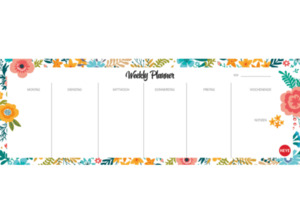 ATHESIA WEEKLY PLANNER FLOWERS QUER Kalender