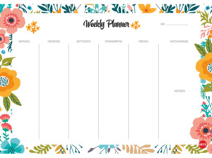 ATHESIA WEEKLY PLANNER FLOWERS DIN A4 Kalender