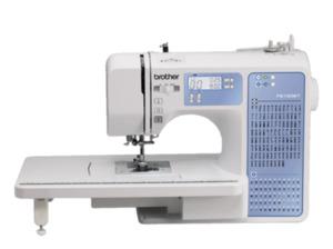 BROTHER FS100WT (100 Stiche) Computer-Nähmaschine in Weiß/Blau