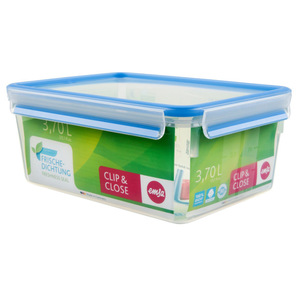 "Emsa Frischhaltedose ""Clip & Close"" in Blau 3,7 Liter"