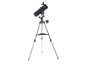 CELESTRON Celestron AstroMaster 114EQ Teleskop mit Nachführmotor und Smartphoneadapter Teleskop Vergrößerung: 50x, 100x in