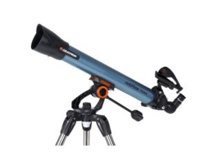 CELESTRON 821666 Inspire 70AZ Teleskop Vergrößerung: 35x, 70x in Schwarz/Blau