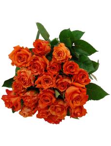Blumenstrauß mit Rosen in orange, Ø 36–40 cm